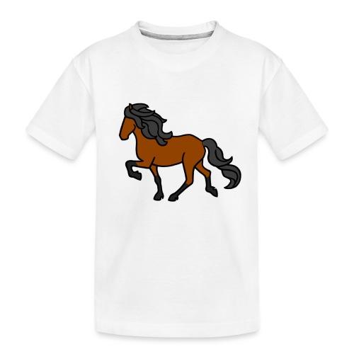 Islandpferd, Brauner, heller - Teenager Premium Bio T-Shirt