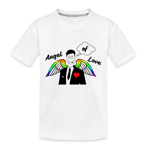 Angel of Love Regenbogen - Teenager Premium Bio T-Shirt
