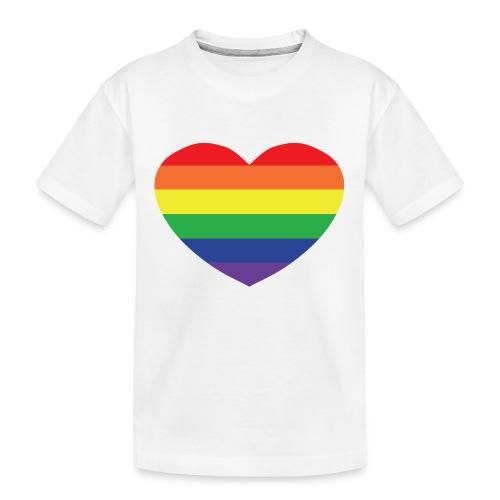 Rainbow heart - Teenager Premium Organic T-Shirt