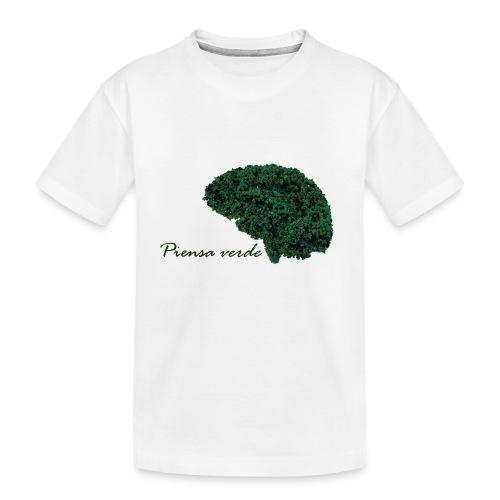 Piensa verde - Camiseta orgánica premium adolescente
