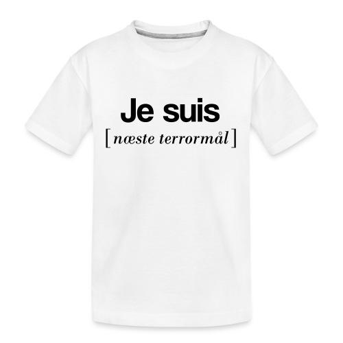 Je suis (sort skrift) - Teenager premium T-shirt økologisk
