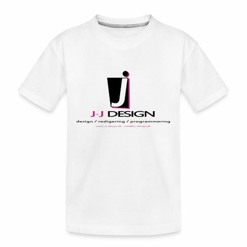 LOGO_J-J_DESIGN_FULL_for_ - Teenager premium T-shirt økologisk
