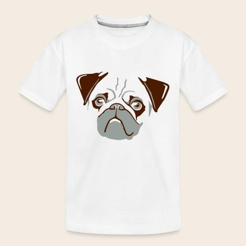 otiz mops kopf 2farbig - Teenager Premium Bio T-Shirt
