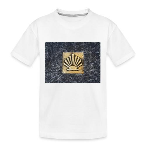 Scallop Shell Camino de Santiago - Teenager Premium Organic T-Shirt