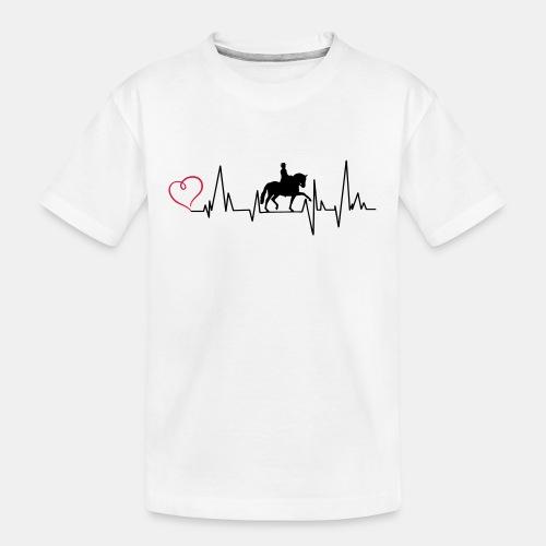 Heartbeat Dressurreiterin klassisch Herz - Teenager Premium Bio T-Shirt