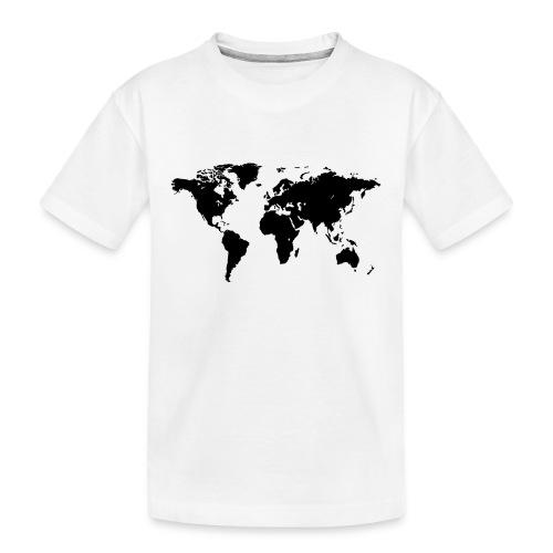 World Map - Teenager Premium Bio T-Shirt