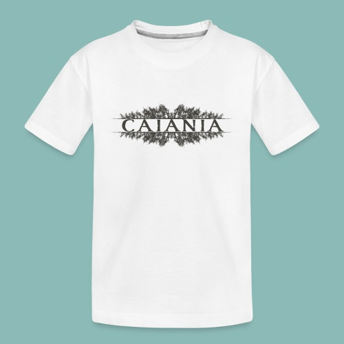 Caiania-logo harmaa - Teinien premium luomu-t-paita