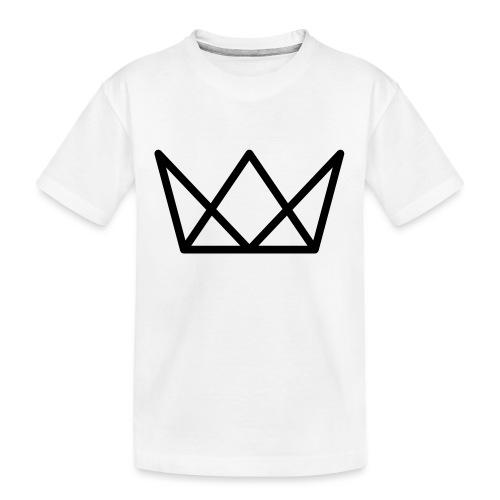 TKG Krone schwarz CMYK - Teenager Premium Bio T-Shirt