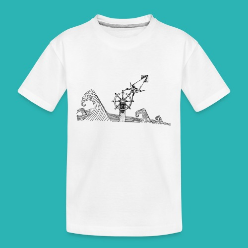 Carta_timone-png - Maglietta ecologica premium per ragazzi