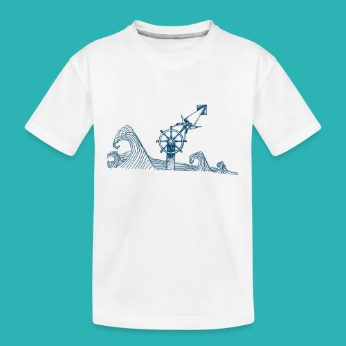 Carta_timone_blu-png - Maglietta ecologica premium per ragazzi