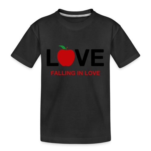 Falling in Love - Black - Teenager Premium Organic T-Shirt