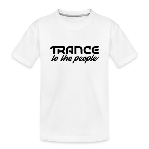 Trance to the People Sort Logo - Teenager premium T-shirt økologisk