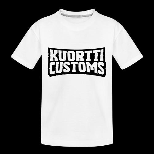 kuortti_customs_logo_main - Teinien premium luomu-t-paita