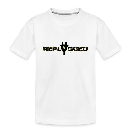 Replugged Singles - Clip Art Black - Teenager Premium Organic T-Shirt