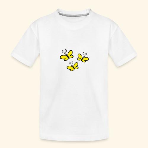 Gelbe Schmetterlinge - Teenager Premium Bio T-Shirt