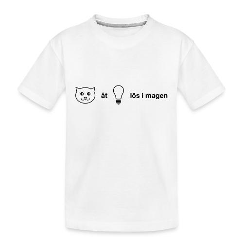 Katt åt lampa - Ekologisk premium-T-shirt tonåring