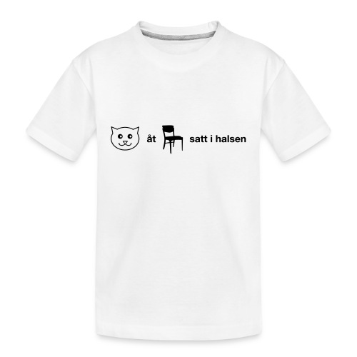 Katt åt stol - Ekologisk premium-T-shirt tonåring