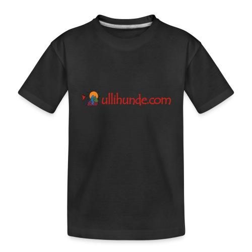 Ullihunde Schriftzug mit Logo - Teenager Premium Bio T-Shirt