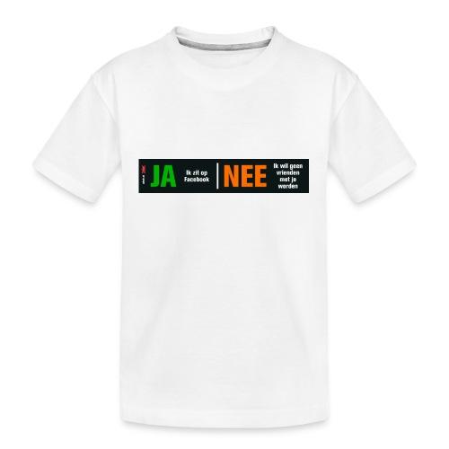 facebookvrienden - Teenager premium biologisch T-shirt