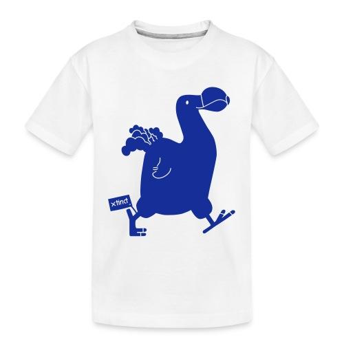Hellgrau meliert Schwarz Seekuh - Riesenseekuh - Teenager Premium Bio T-Shirt