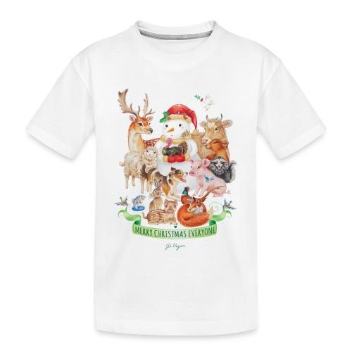 vegan-christmas-green - Teenager Premium Organic T-Shirt