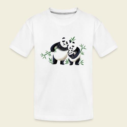 Pandafamilie Baby - Teenager Premium Bio T-Shirt
