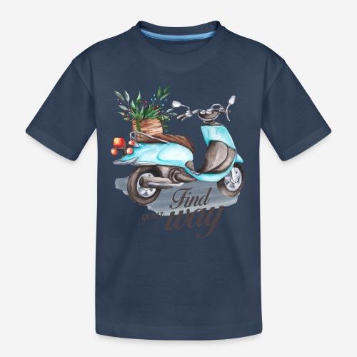 Finde deinen Weg im Leben - Teenager Premium Bio T-Shirt