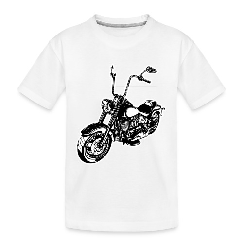 Moto Softail - Camiseta orgánica premium adolescente