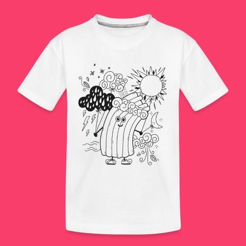 Rudi Regenbogen Wetter-Motiv zum Ausmalen - Teenager Premium Bio T-Shirt