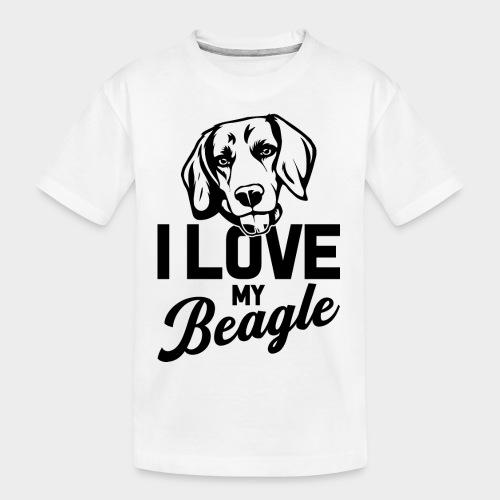 I LOVE MY BEAGLE - Teenager Premium Bio T-Shirt