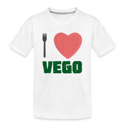 I love Vego - Clothes for vegetarians - Teenager Premium Organic T-Shirt