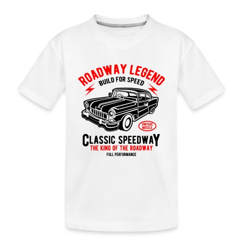 Roadway Legend Build for Speed - Teenager premium biologisch T-shirt
