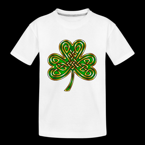 Celtic Knotwork Shamrock - Teenager Premium Organic T-Shirt