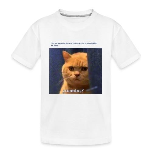 Cat nalgadas - Camiseta orgánica premium adolescente