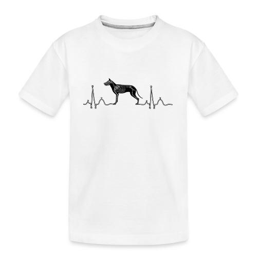 ECG met hond - Teenager premium biologisch T-shirt
