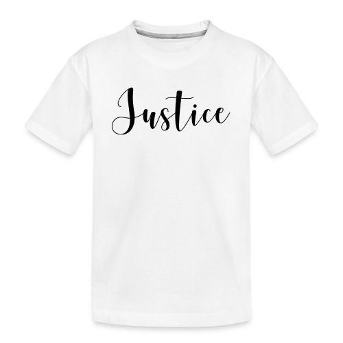 07 Justice black on white - Teenager Premium Bio T-Shirt
