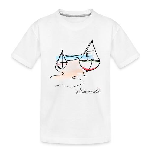 Fiskerbåde 2 - logo - Teenager premium T-shirt økologisk