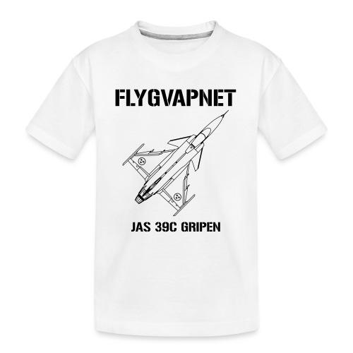 FLYGVAPNET - JAS 39C - Ekologisk premium-T-shirt tonåring