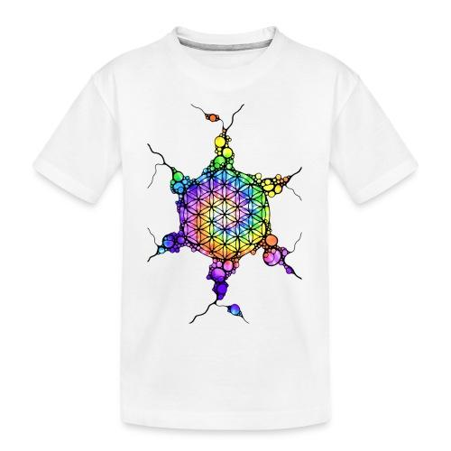 Flower Of Life Neuro Art 3 - Teenager Premium Bio T-Shirt