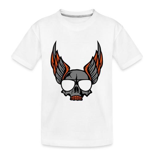 tete mort aile lunette skull aille 1206 - T-shirt bio Premium Ado