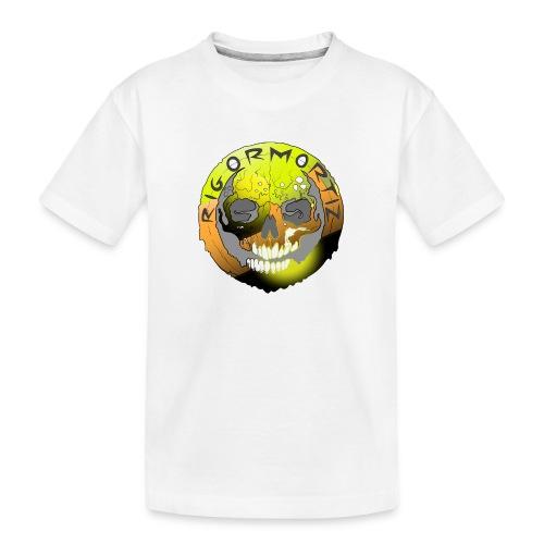 Rigormortiz Metallic Yellow Orange Design - Teenager Premium Organic T-Shirt