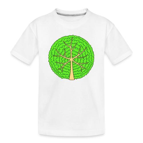 Baum, rund, hellgrün - Teenager Premium Bio T-Shirt