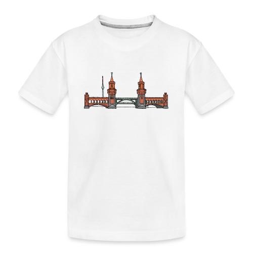 Oberbaumbrücke w Berlinie c - Ekologiczna koszulka młodzieżowa Premium