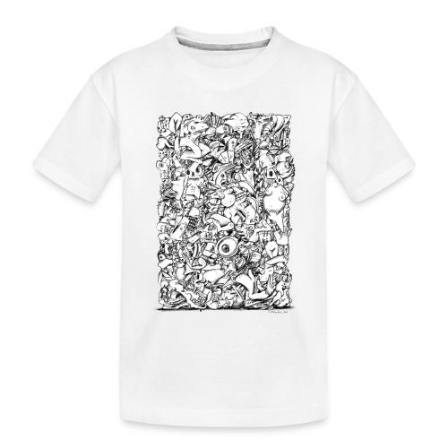 FRTZN Alphabet BLOCK - Teenager Premium Bio T-Shirt