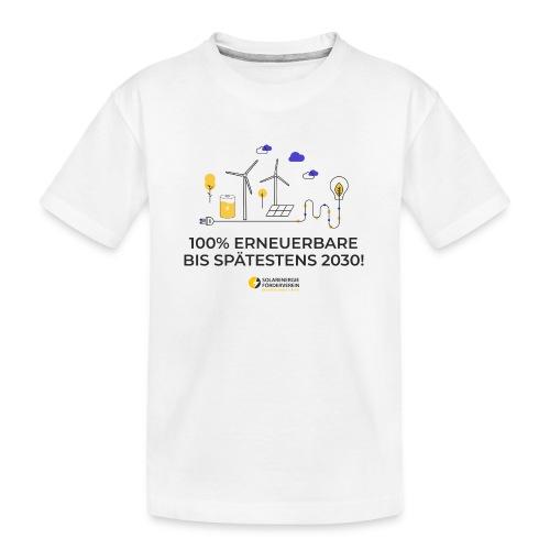 100% Erneuerbare 2030 - Teenager Premium Bio T-Shirt