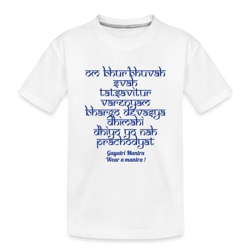 OM Bhur Bhuva Svaha - Maglietta ecologica premium per ragazzi