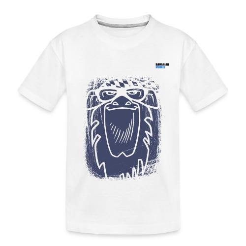 Bavarian Monkey Scratch - Teenager Premium Bio T-Shirt