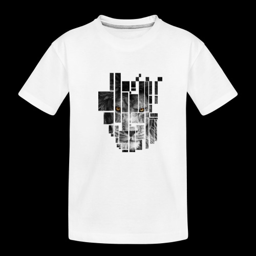 Pixel Lion Tattoo Inspire - Teenager Premium Organic T-Shirt