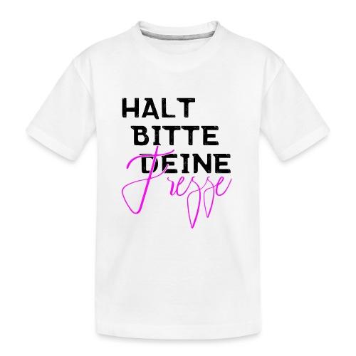 Halt bitte deine Fresse - Teenager Premium Bio T-Shirt