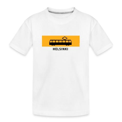 RATIKKA PYSÄKKI HELSINKI T-paidat ja lahjatuotteet - Teinien premium luomu-t-paita
